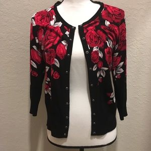 WHBM snap front cardigan sweater